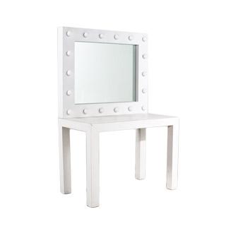 """40""""w x 34""""h White Laminate Make-Up Mirror MIR001774 (Mirror Only)*"""