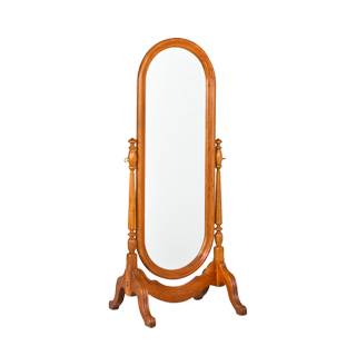 "28.5""w x 65.5""h Medium Cherry Country Cheval Mirror MIR001820"