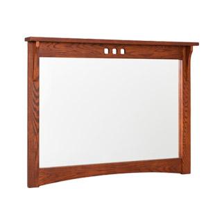 """46.25""""w x 34.5""""h Medium Cherry Mission Dresser Mirror MIR003658"""