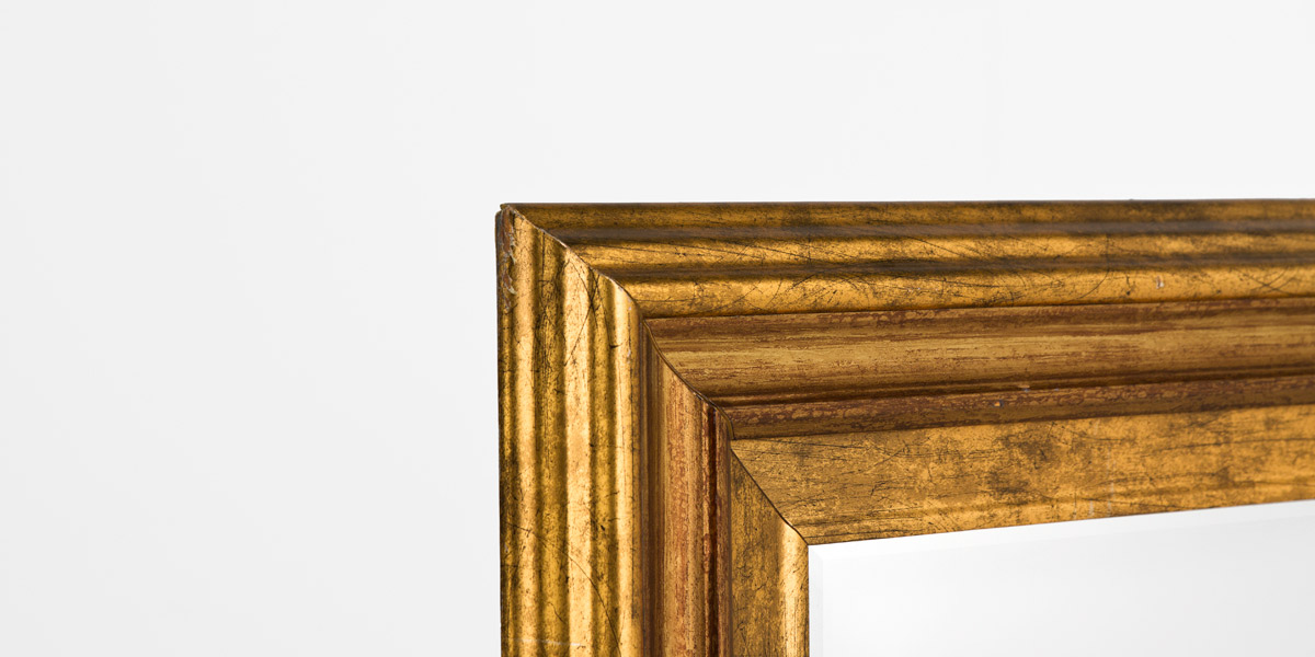 "34""w x 28""h Gold Painted Mirror MIR008063"
