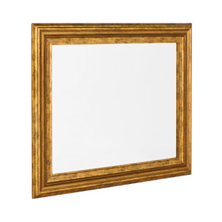 "34""w x 28""h Gold Painted Mirror MIR008063"
