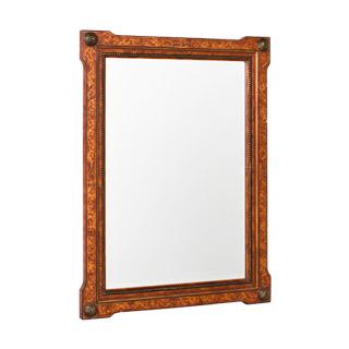 "30""w x 40""h Medium Cherry Burl Frame Mirror MIR009236"
