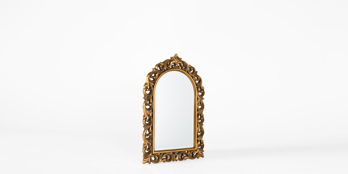 """32""""w x 46.5""""h Traditional Gold Baroque Mirror MIR009610"""