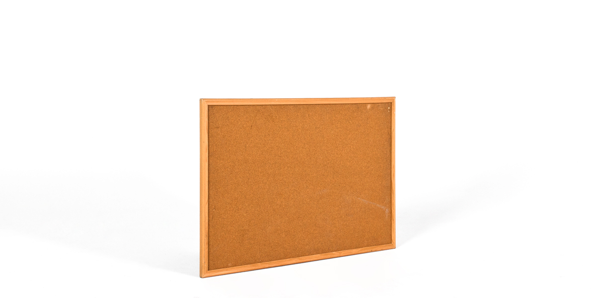 "36""w x 24""h Natural Wood Wall Bulletin Board MIS010701"