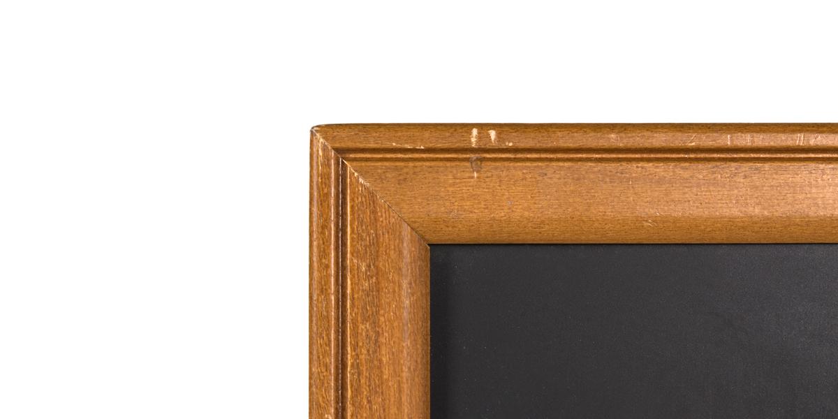 """48""""w x 36.25""""h Natural Wood Wall Blackboard MIS010992"""