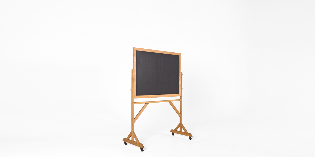 "50.25""w x 71.25""h Natural Wood Blackboard MIS011595"