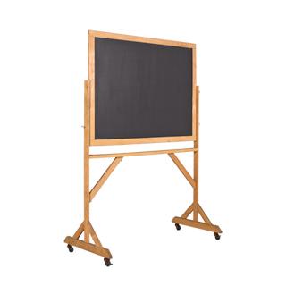 """50.25""""w x 71.25""""h Natural Wood Blackboard MIS011595"""