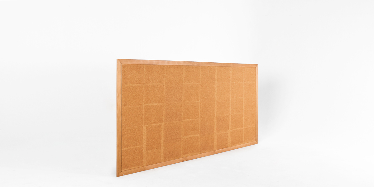 "96""w x 48""h Natural Wood Wall Bulletin Board MIS013185"