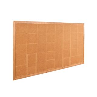 """96""""w x 48""""h Natural Wood Wall Bulletin Board MIS013185"""