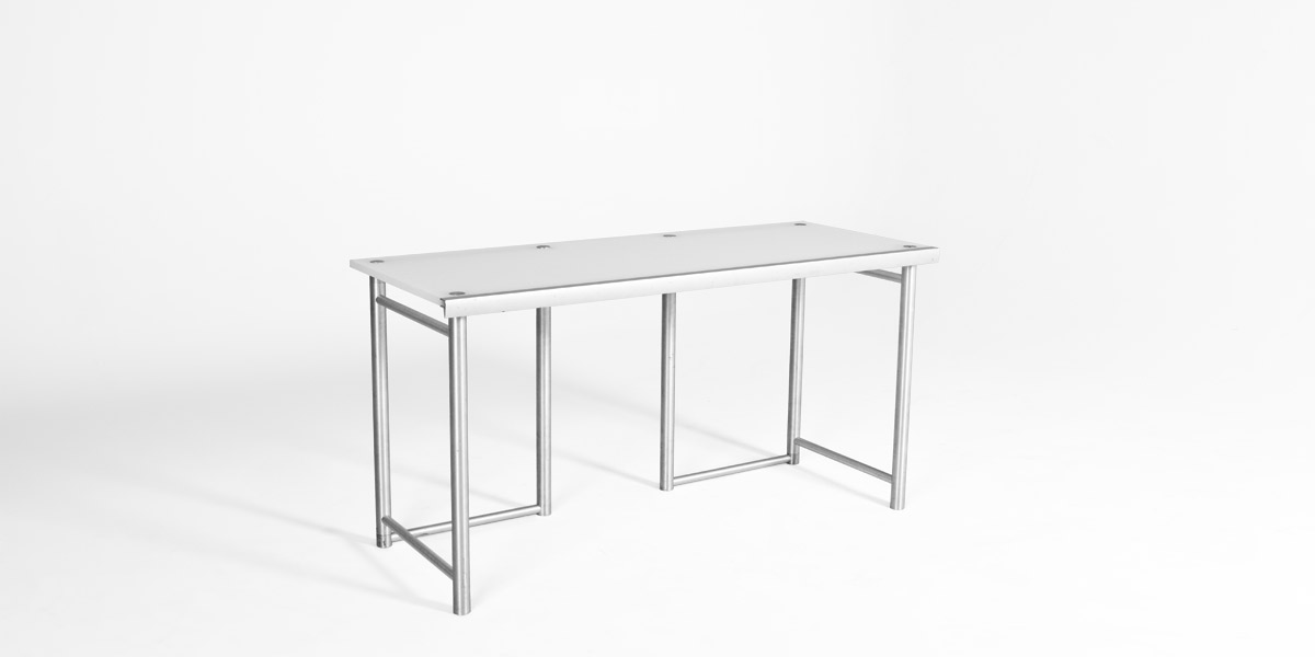 "60""w x 24""d Frosted Plexiglas Table Desk TBL008469"