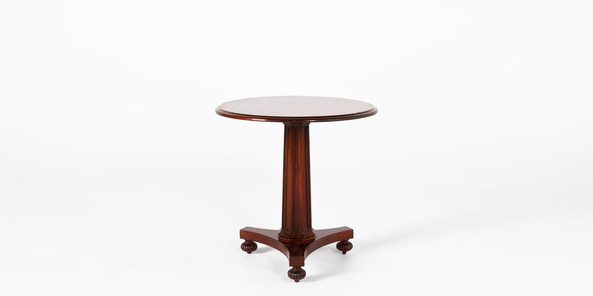 """28""""dia Medium Mahogany Round Column Table TBL009325"""