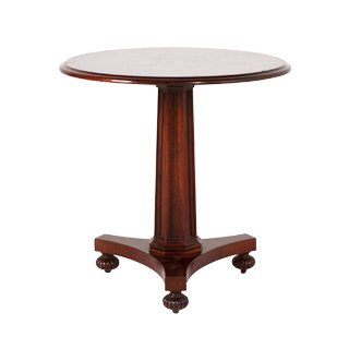 "28""dia Medium Mahogany Round Column Table TBL009325"