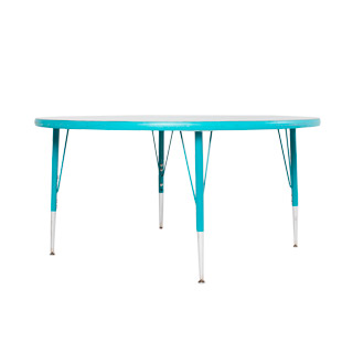 "48""dia Teal Round Children's Work Table TBL013117"