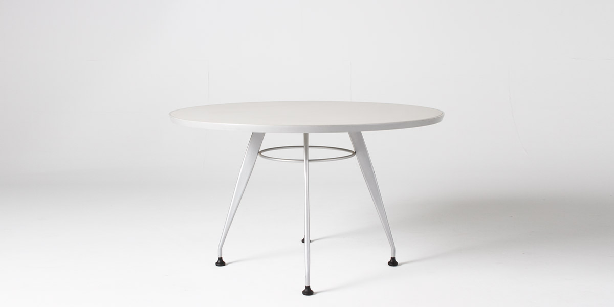 "48""dia Light Grey Round Conference Table TBL012545"