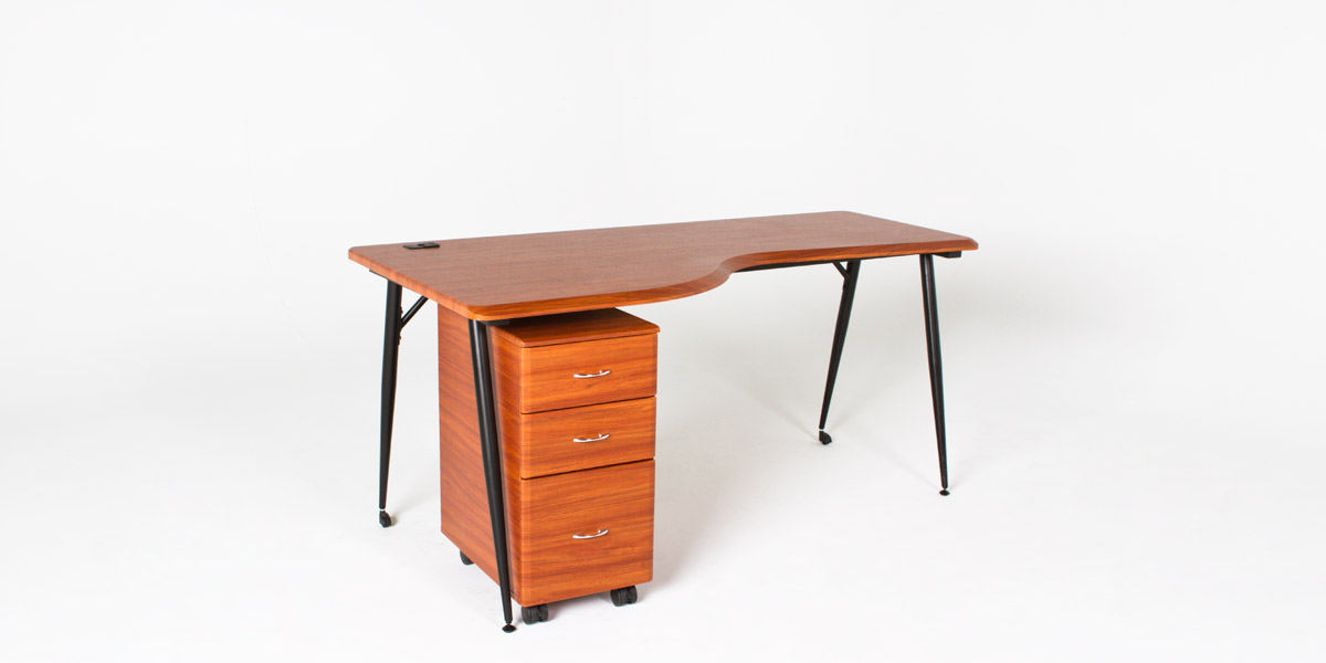 "65""w x 31""d Dark Cherry Work Table TBL012924"