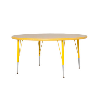 "48""dia Yellow Round Children's Work Table TBL013116"