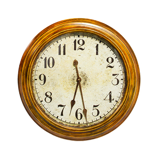 "24""dia Brushed Tin Clock ACC011333"