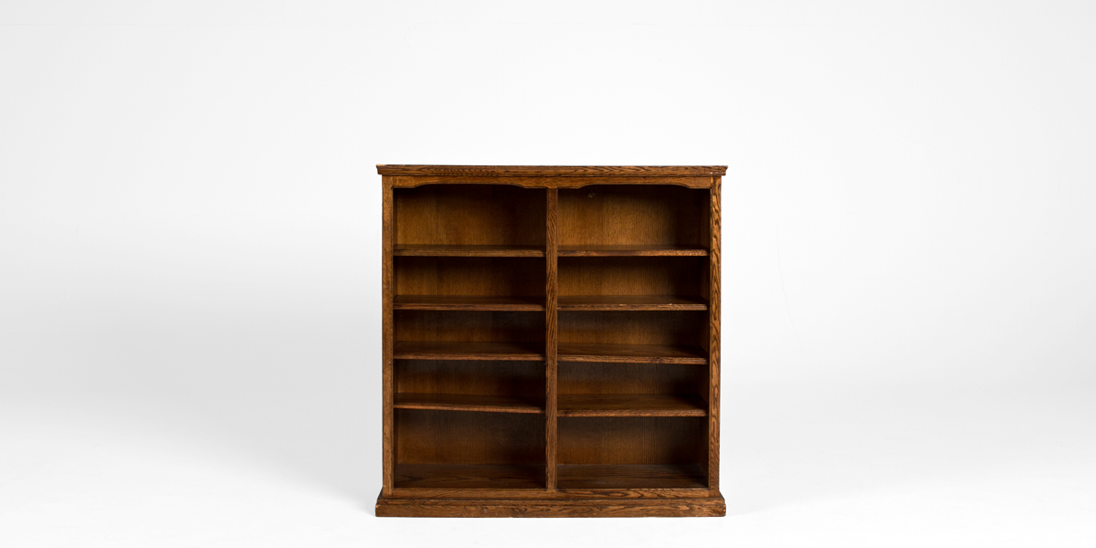 "48""w x 48""h Medium Oak Bookcase BKC000240"