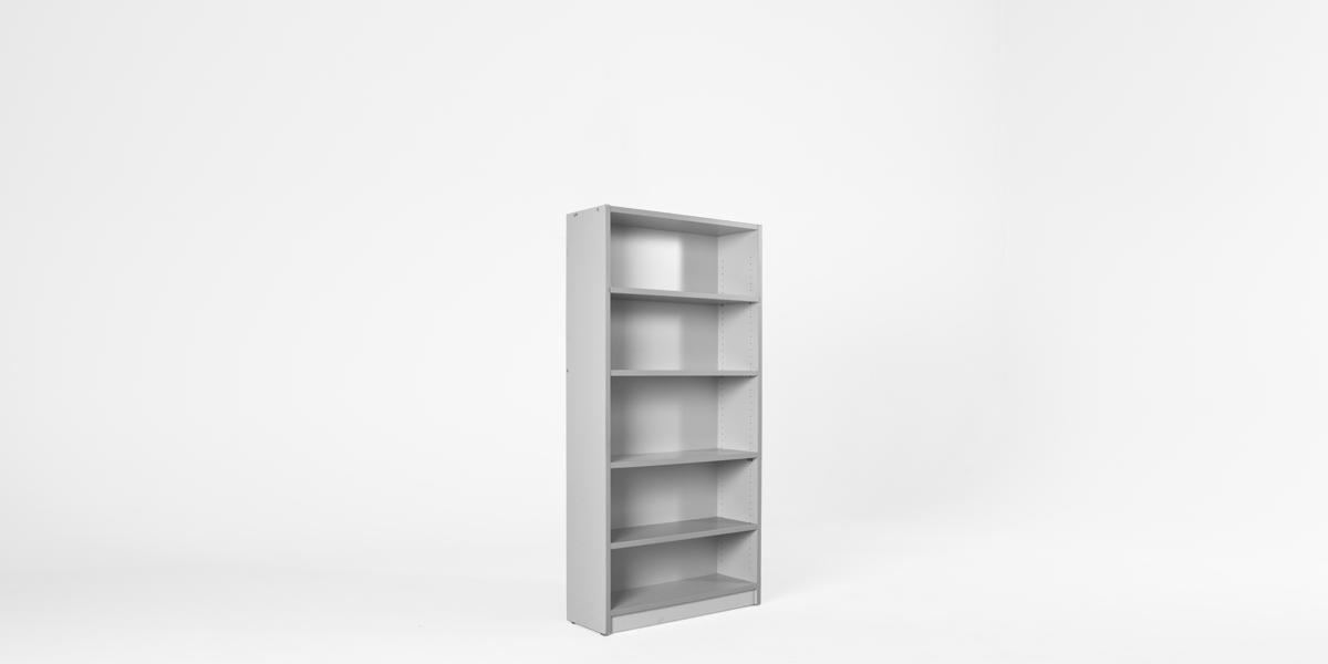 "36""w x 72""h Light Grey Laminate Bookcase BKC013208"