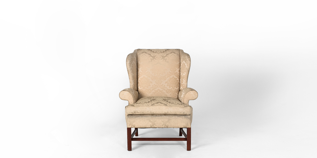 Cream Fabric Wing Back Club Chair CHR000732