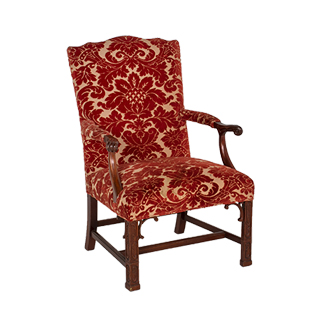 Gothic Red Damask Guest Chair CHR000823