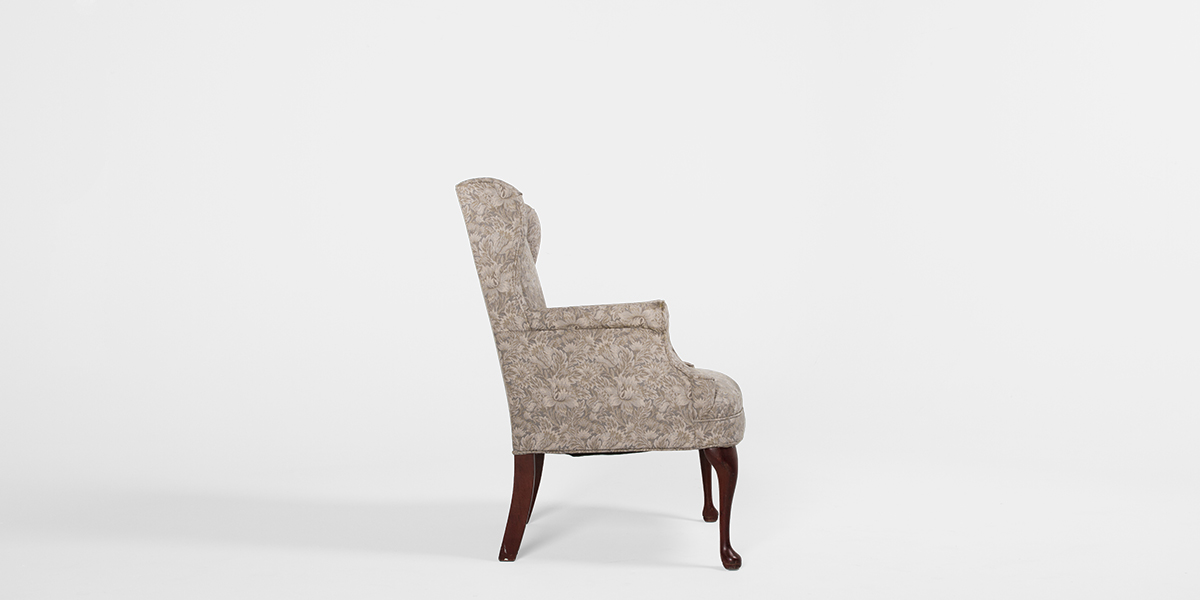 Beige Wing Back Club Chair  CHR000901