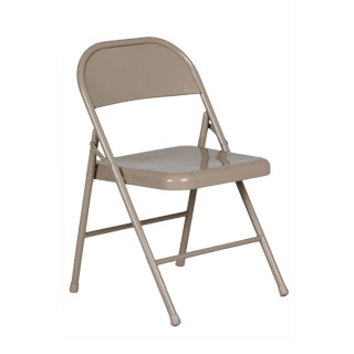 Beige Metal Folding Chair CHR007393