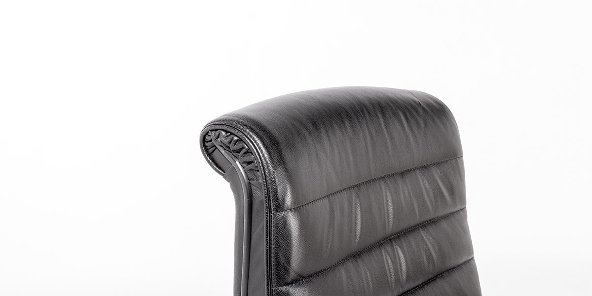 Black Leather Hi-Back Sapper Chair CHR010683