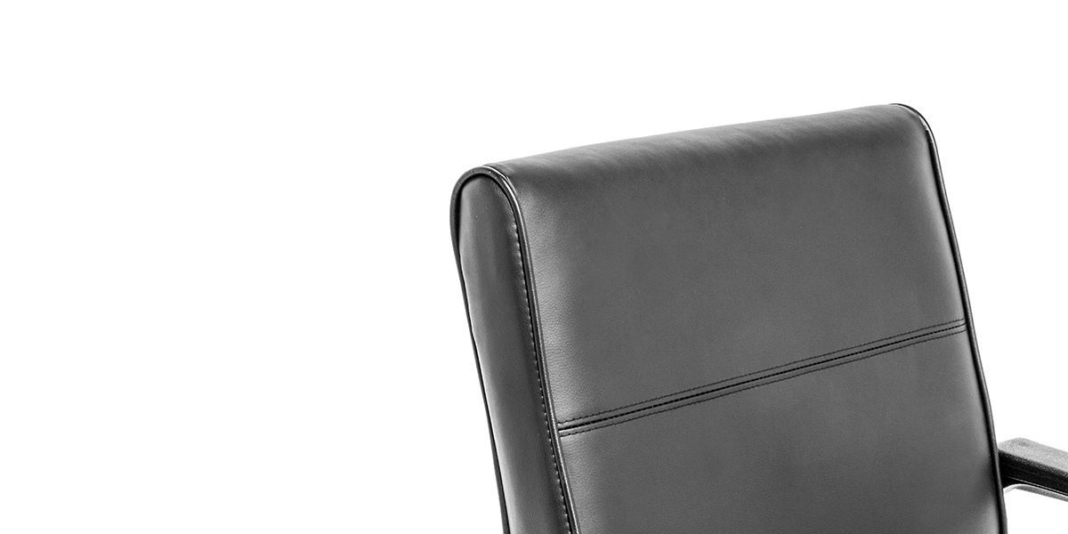 Black Leather Mid-Back Office Chair CHR011977