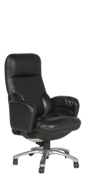 Black Leather Hi-Back Presidential Chair CHR012513