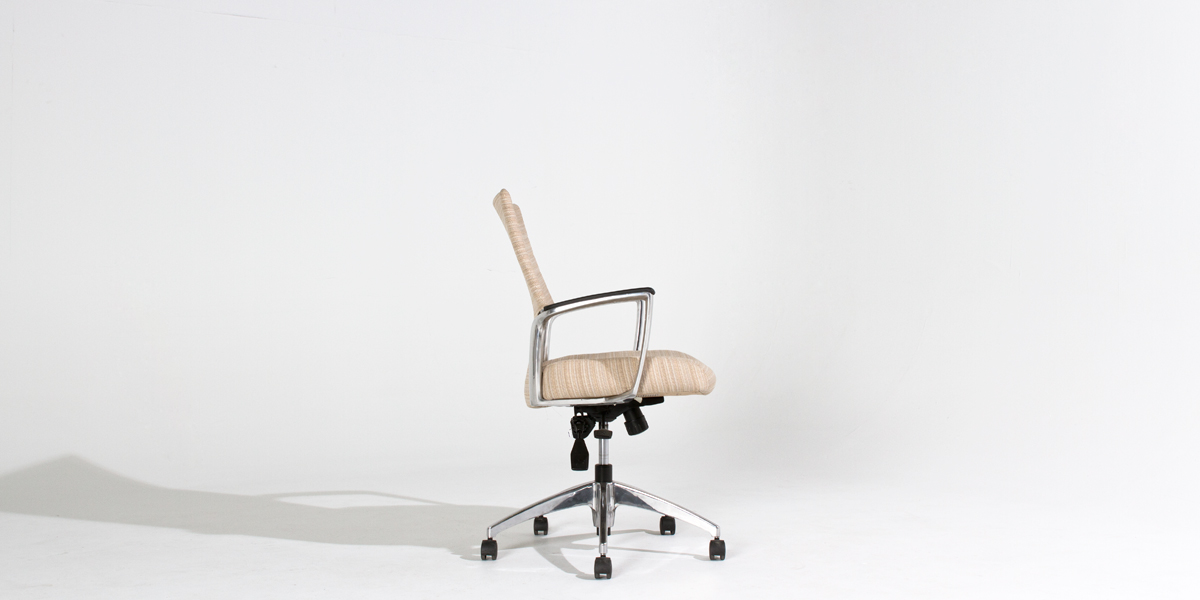 Beige Fabric Mid-Back Office Chair CHR012546