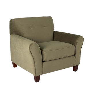 Olive Green Microfiber Club Chair (qty:1) SOFT107