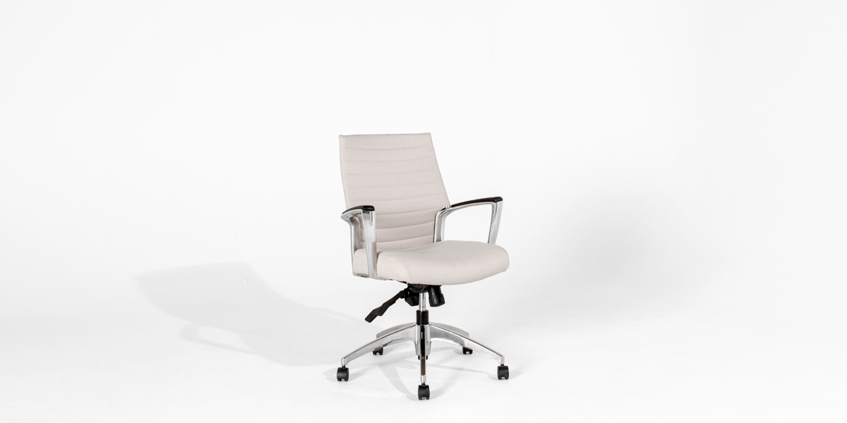 Sand Fabric Mid-Back Office Chair CHR012898