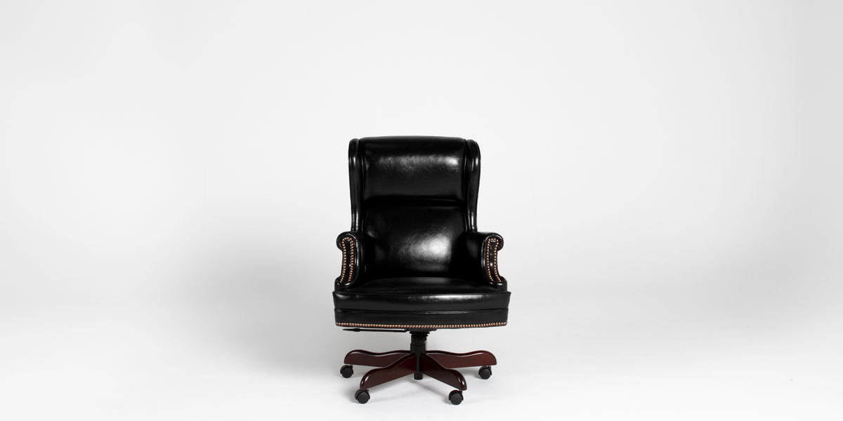 Black Vinyl Executive Hi-Back Chair CHR013174