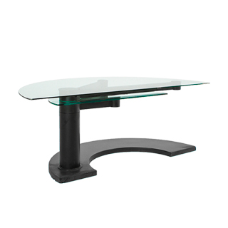 "78.5""w x 38.75""d Glass Semi-Circular Desk DSK004860"