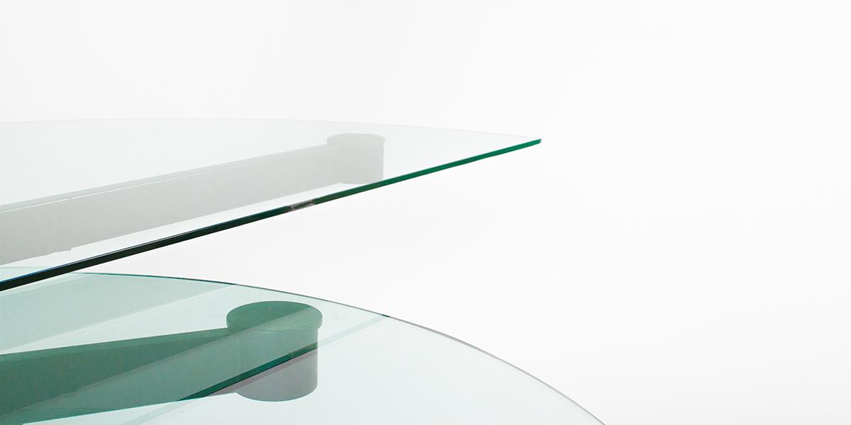 """78.5""""w x 38.75""""d Glass Semi-Circular Desk DSK004860"""
