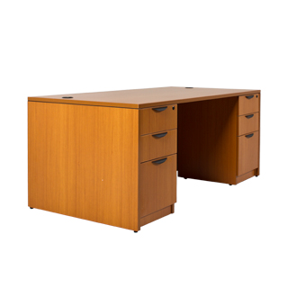 71 W X 36 D American Cherry Laminate Desk Dsk013184