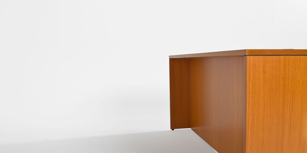 "71""w x 36""d American Cherry Laminate Desk DSK013184"
