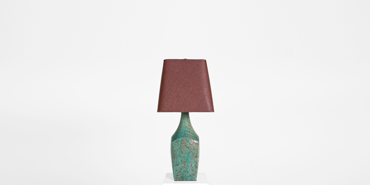 "36""h Turquoise Ceramic Table Lamp LGT012527"