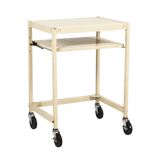"24.25""w x 18.25""d Putty Steel Media Cart MIS001915"