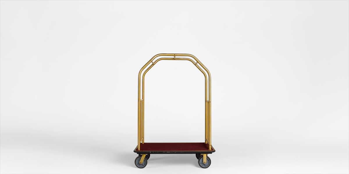 "50""w x 69""h Brass Bellman Cart MIS006884"
