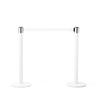 "39""h Glossy White Stanchion MIS009596"