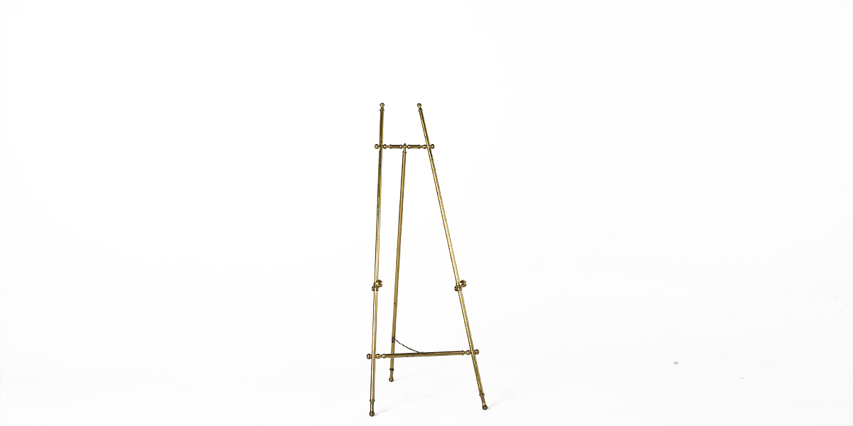 "57""h Brass Easel MIS009947"