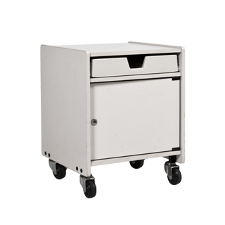 "19""w x 18""d Grey Laminate Machine Cart MIS011795"