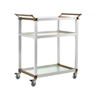 "35""w x 16.25""d Glass Refreshment Cart MIS013226"