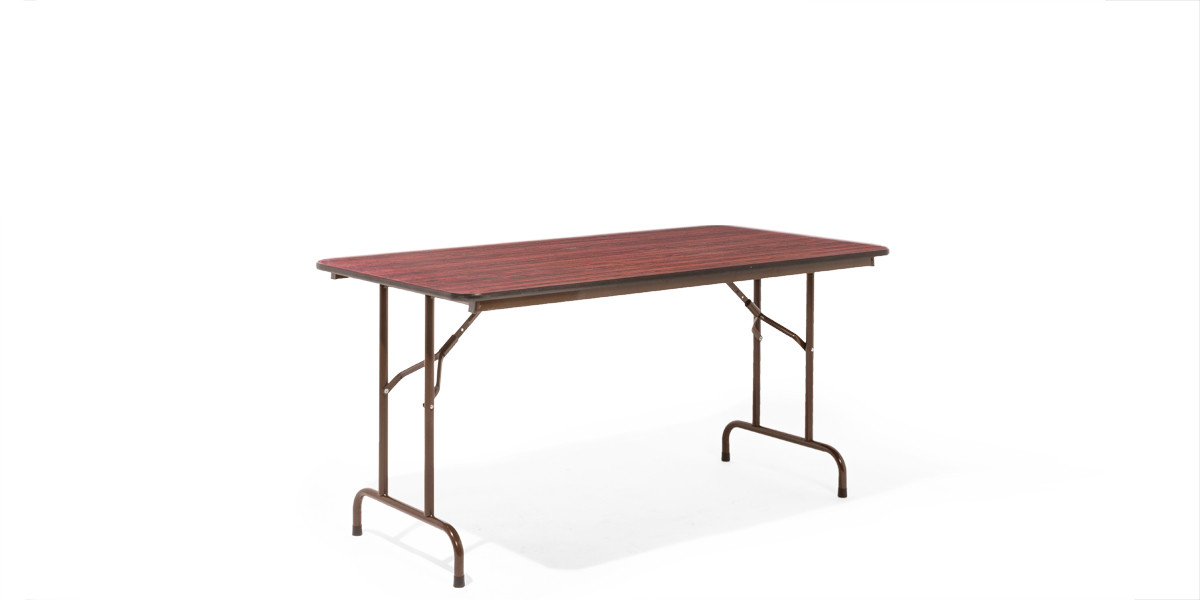 "60""w x 30""d Walnut Folding Table TBL002536"