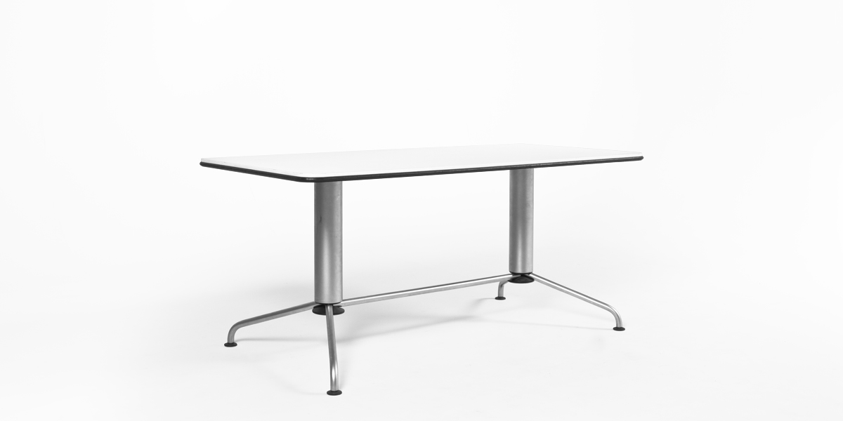 "63""w x 31.5""d Satin Chrome Table Desk TBL005430"