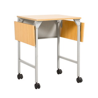 "23""w - 35.5""w x 18""d Grey Steel Machine Table TBL008250"