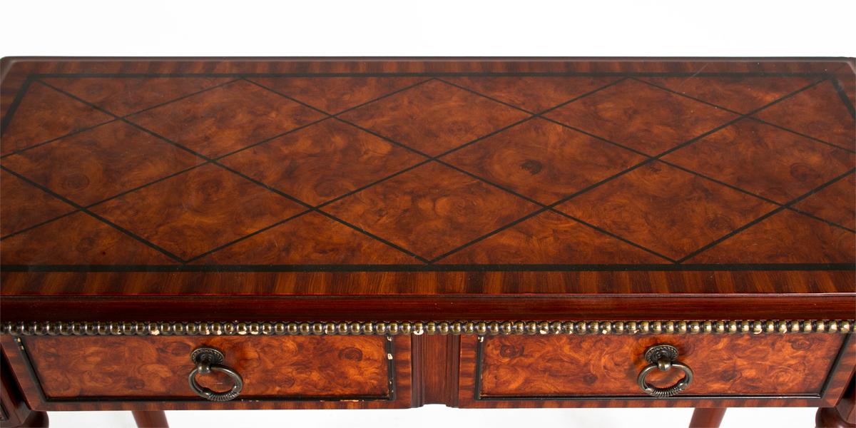 30 W X 12 D Cherry Faux Burl Console Table Tbl009247