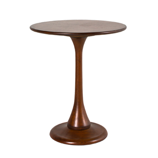 "22""dia Medium Cherry Saarinen Round Side Table TBL012484"